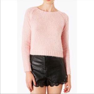Topshop Pink Peach Fuzzy Sweater